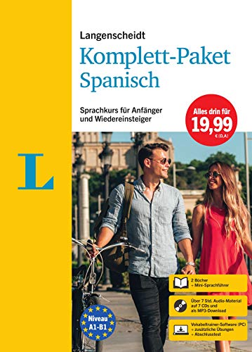 Langenscheidt Komplett-Paket Spanisch: Sprachkurs mit 2 Büchern, 7 Audio-CDs, MP3-Download,...