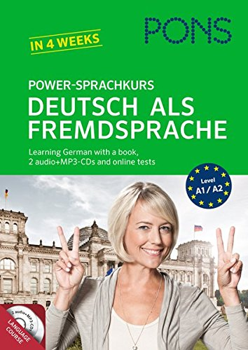 PONS Power-Sprachkurs Deutsch als Fremdsprache: Learn German the easy way: With a book, Mp3-CDs and...